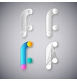 abstract combination of letter f