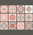 arabic decorative tiles vector image vector image