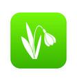 bell flower icon digital green vector image
