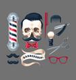 big set barber shop vector image vector image