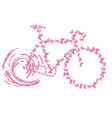 bike pink butterflyretro butterfly vintage vector image vector image