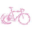 bike pink butterflyretro butterfly vintage vector image vector image