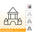 block castle simple black line icon vector image