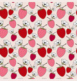 blossom strawberries seamless pattern red berry vector image vector image