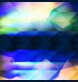 blue polygonal hexagonal elements vector image vector image
