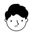 boy face sad expression gesture vector image