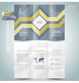 brochure geometric abstract grach diagram vector image vector image
