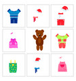 brown bear and set of clothes vector image vector image