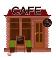cafe facade exterior flat design isolated vector image