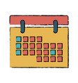 calendar date remember day social media vector image