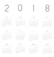 calendar - year 2018 week starts from vector image vector image