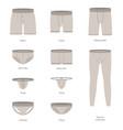 cartoon male underwear different types icon set vector image vector image