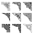 celtic corners set vector image vector image