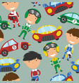collection of racing drivers and sport cars vector image vector image