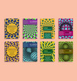 colorful covers templates with optical design vector image