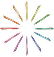 Colour pen vector image vector image