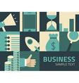 Flat design Business concept Businessman vector image