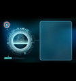 futuristic device with transparent screen vector image vector image