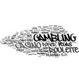 gambling word cloud concept vector image vector image