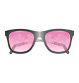 glasses with broken pink glasses isolated image vector image