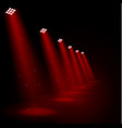 glowing red spotlights vector image vector image