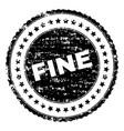 grunge textured fine stamp seal vector image