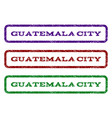 guatemala city watermark stamp vector image vector image