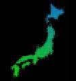 Halftone japan map vector image