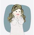 happy child girl look happy in the spring season vector image vector image
