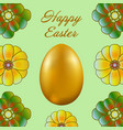 happy easter isolated on a light green background vector image vector image