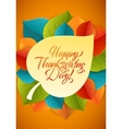 Happy Thanksgiving Calligraphy Greeting Card vector image