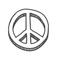 Hippie Circle icon Love and Peace design vector image vector image