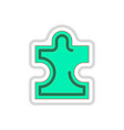 in paper sticker style puzzle vector image vector image