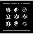 inspirational letter s monogram logo design vector image vector image