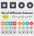 King Crown icon sign Big set of colorful diverse vector image vector image