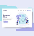 landing page template protected ideas concept vector image vector image