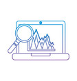 laptop information graph diagram viewed through a vector image vector image