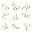 Leaf simbol Set of green leaves design elements vector image vector image