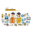 man girl and education vector image vector image