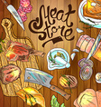 meat store vector image vector image