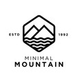 minimal mountain logo design inspiration vector image