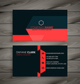 modern red black business card vector image vector image