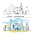 Modern sketch buildings cityscape vector image vector image