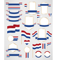 Netherlands flag decoration elements vector image