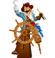 one-eyed captain pirate vector image vector image