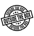outside the box round grunge black stamp vector image vector image