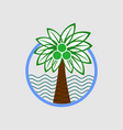 palm tree on a beach logo graphic vector image vector image