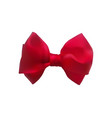 red bow out of satin ribbon decorative bowknot vector image vector image