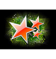 red stars on the black background vector image vector image