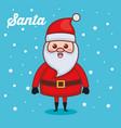 santa claus character christmas card vector image